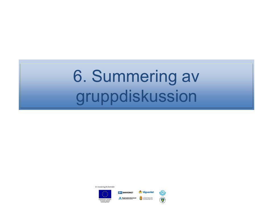 6. Summering av gruppdiskussion