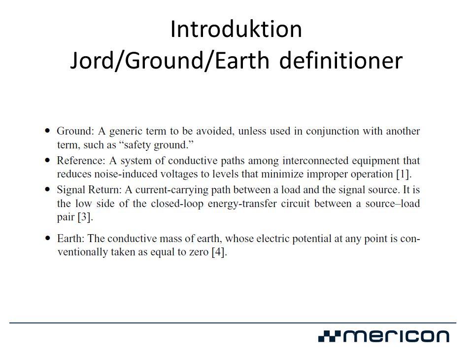 Introduktion Skillnader elektronik/elkraftsjord