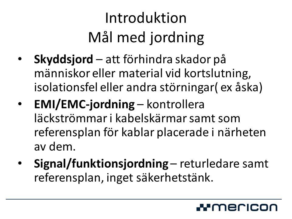 IEC • IEC EN 50522 • Verkar bli Europastandard för jordning över 1kV • Gäller nu i Sverige Avsnitt 9 i SS 421 01 01 ersätts av SS-EN 50522, utgåva 1, helt från 2013 • Steg och beröringspänningar från IEC 60479-1