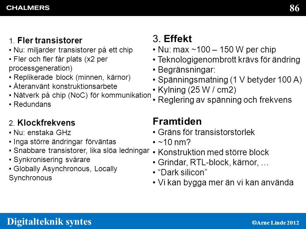 86 Digitalteknik syntes  Arne Linde 2012 3.