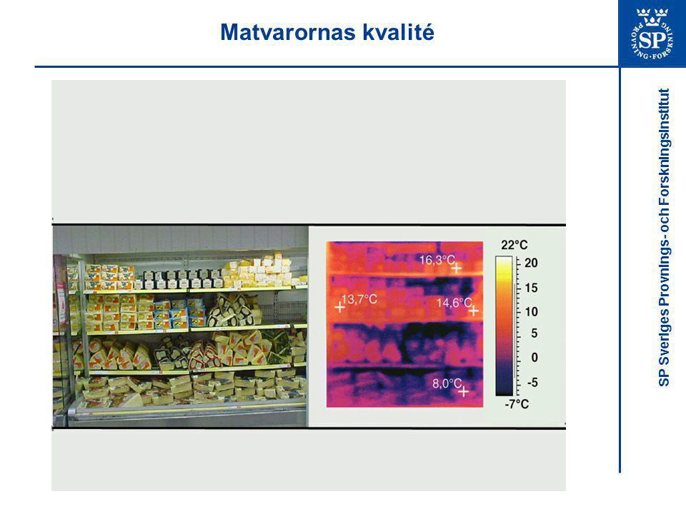SP Sveriges Provnings- och Forskningsinstitut Luftflöde och luftridåer: Syfte Analys av luftflödet i kyldiskar och luftridån för att beskriva de parametrar som påverkar:  Värmetransporten från matvarorna  Luftridåns stabilitet  Luftridåns effektivitet