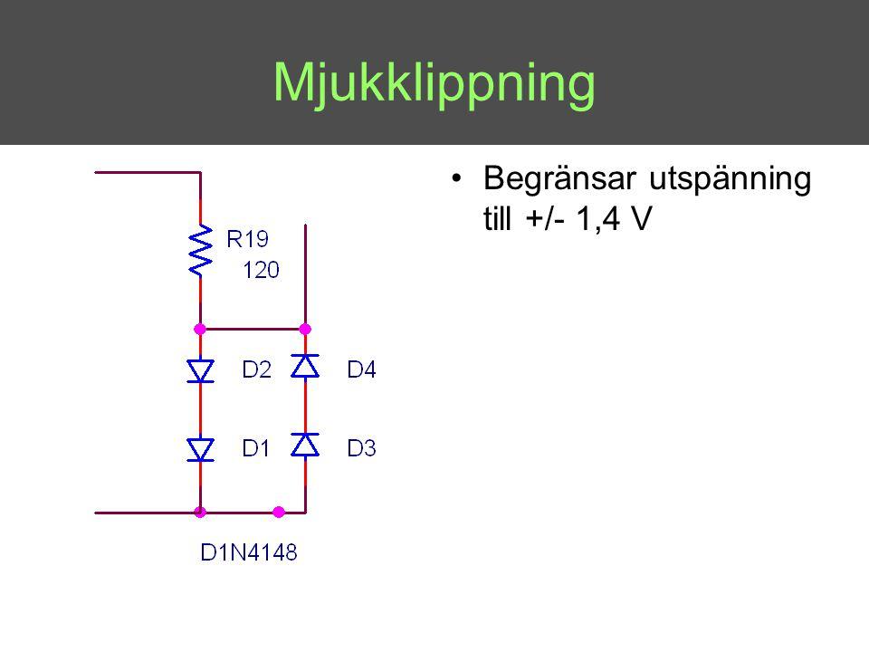 •Begränsar utspänning till +/- 1,4 V