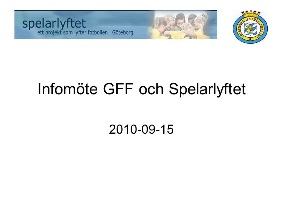 Infomöte GFF och Spelarlyftet 2010-09-15