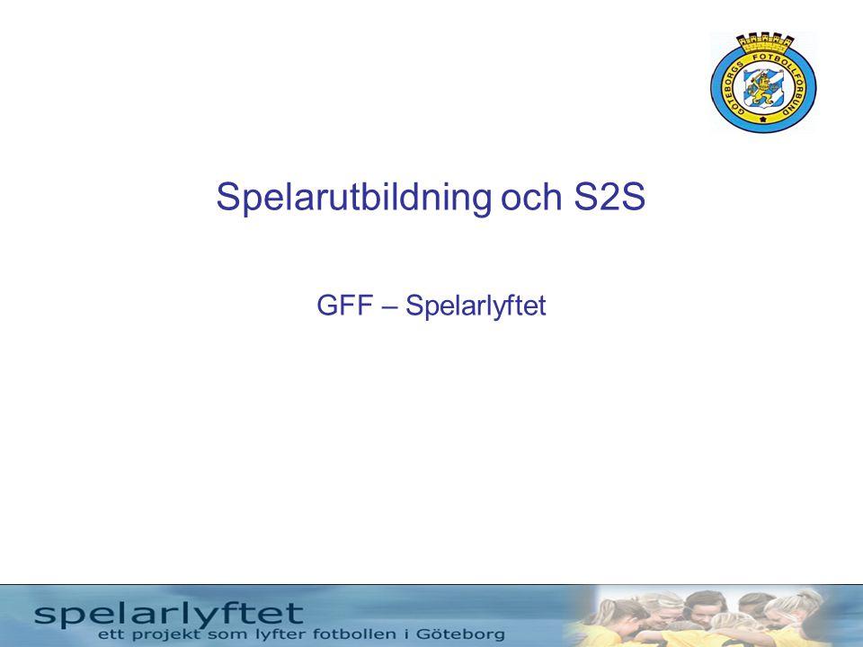 Spelarutbildning och S2S GFF – Spelarlyftet