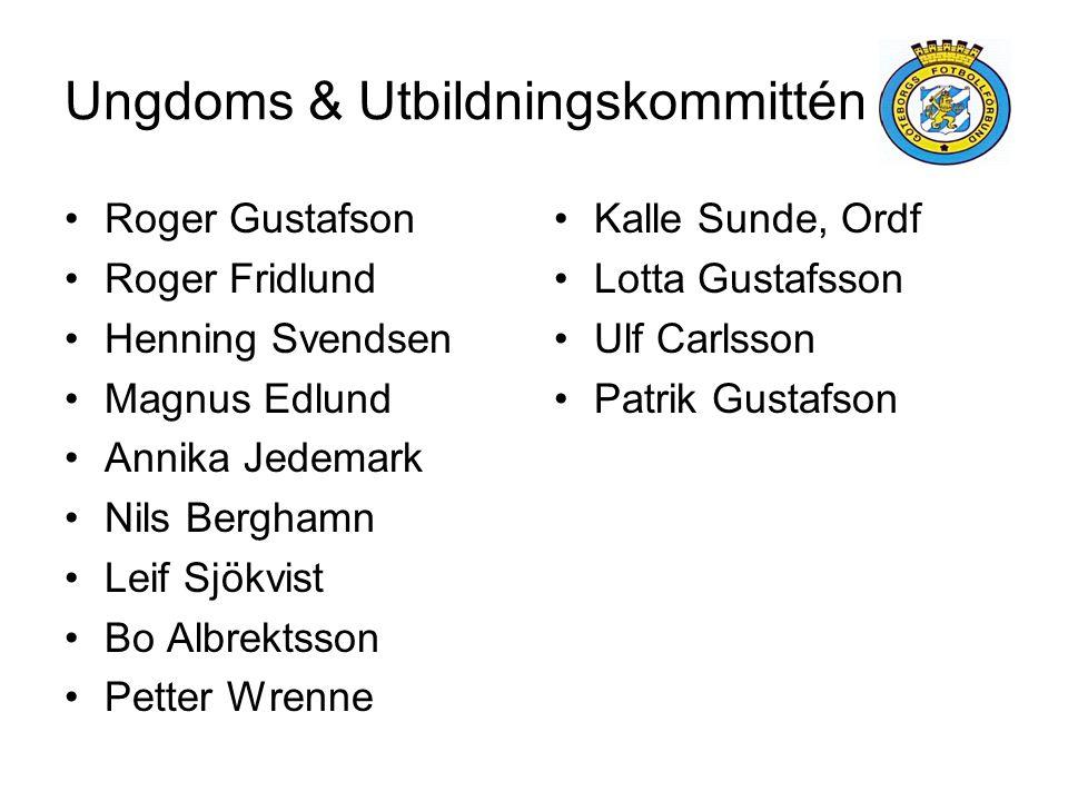 Ungdoms & Utbildningskommittén •Roger Gustafson •Roger Fridlund •Henning Svendsen •Magnus Edlund •Annika Jedemark •Nils Berghamn •Leif Sjökvist •Bo Al