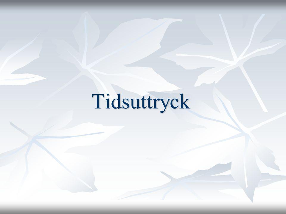 Tidsuttryck