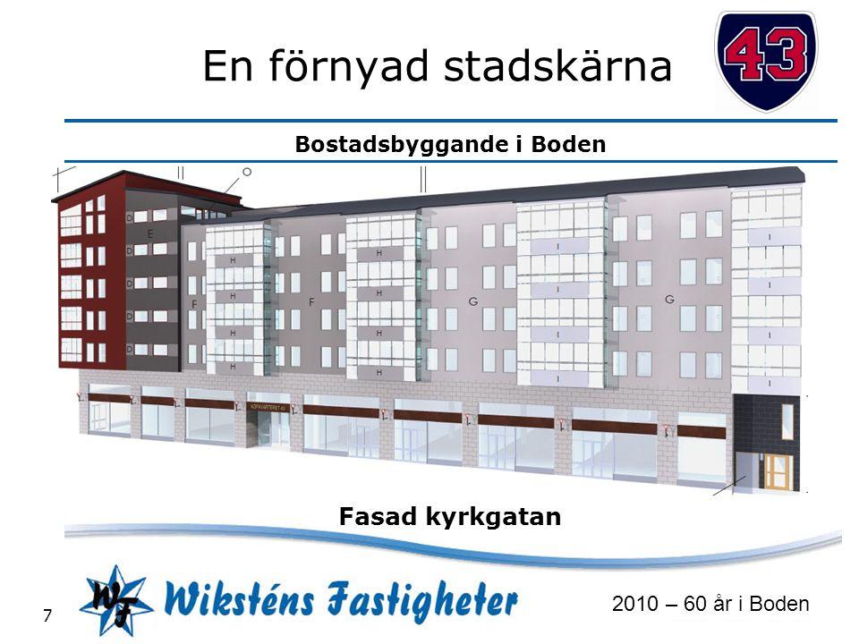 Bostadsbyggande i Boden 2010 – 60 år i Boden 7 En förnyad stadskärna Fasad kyrkgatan