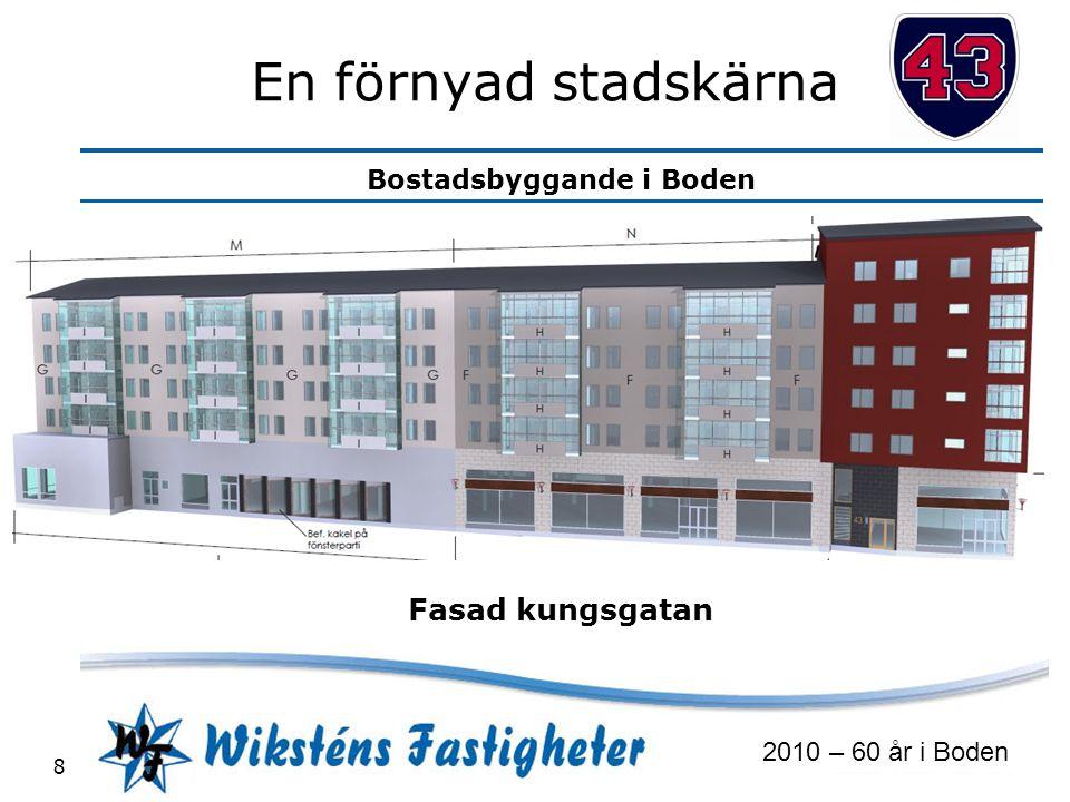 Bostadsbyggande i Boden 2010 – 60 år i Boden 8 En förnyad stadskärna Fasad kungsgatan