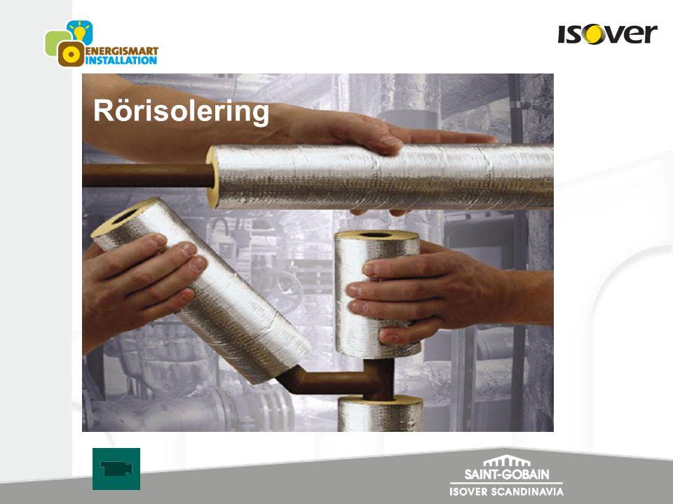 Exempel på besparing per lpm rör och år för varmvatteninstallation Oisolerat rör Φ35mm Mediatemp.