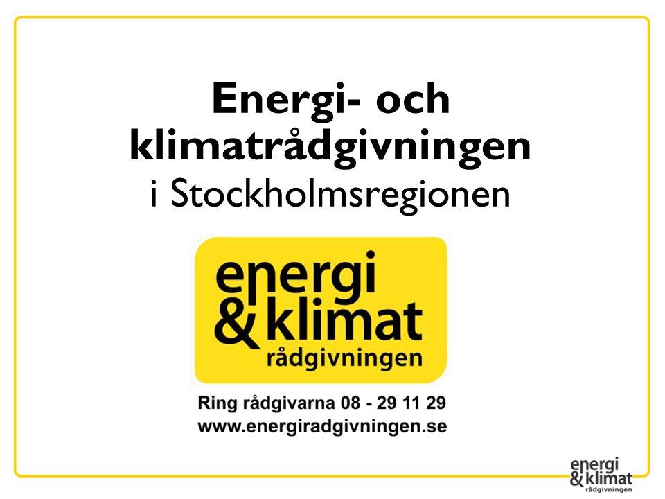Energi- och klimatrådgivningen i Stockholmsregionen