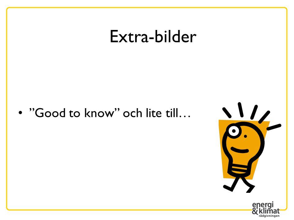 """• """"Good to know"""" och lite till… Extra-bilder"""