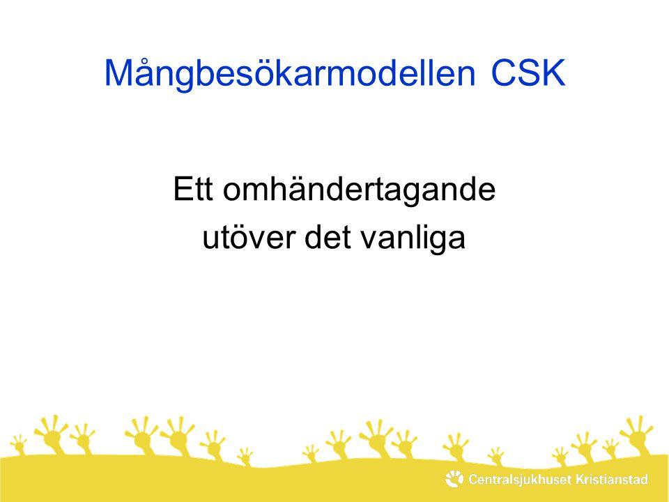 Mångbesökarmodellen CSK Ett omhändertagande utöver det vanliga