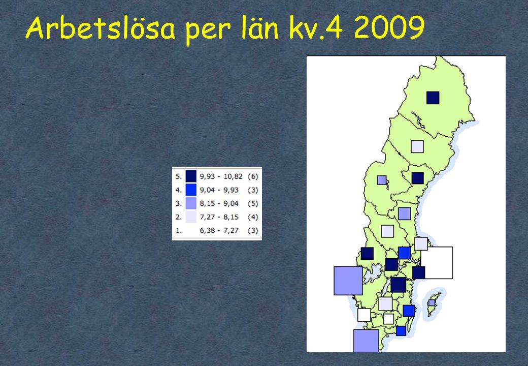 Arbetslösa per län kv.4 2009