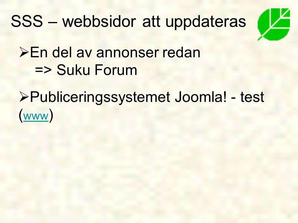  En del av annonser redan => Suku Forum  Publiceringssystemet Joomla.