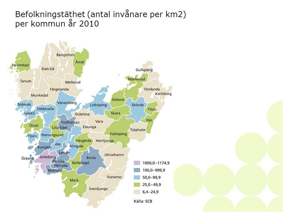 2014-06-28• • SKAPAD AV36 Befolkningstäthet (antal invånare per km2) per kommun år 2010