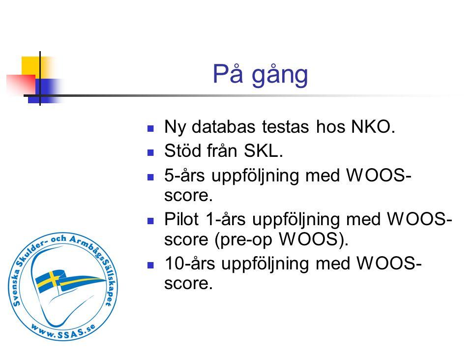 På gång  Ny databas testas hos NKO. Stöd från SKL.