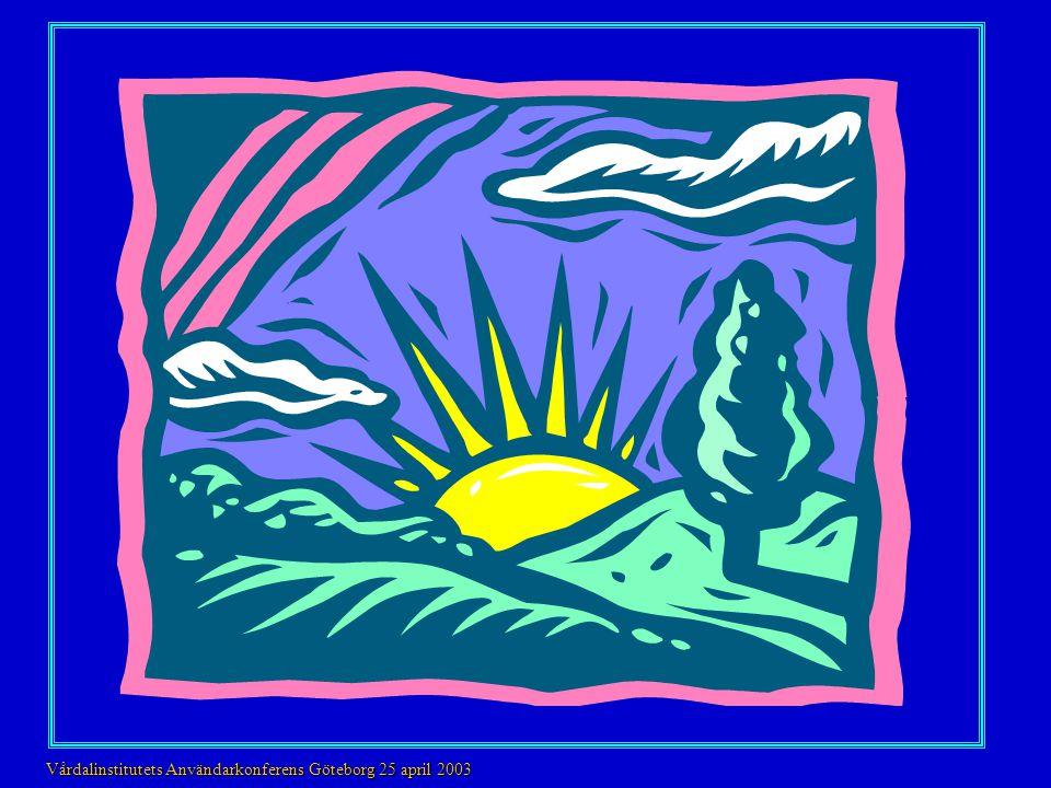 Färgpreferenser III 80 åringar Alzheimer I II 95 åringar Vårdalinstitutets Användarkonferens Göteborg 25 april 2003