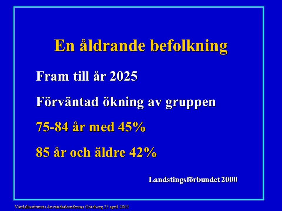 Vem .•80-åringar n=189 •95-åringar n=84 •Alzheimer patienter (80 år medel SD 4.