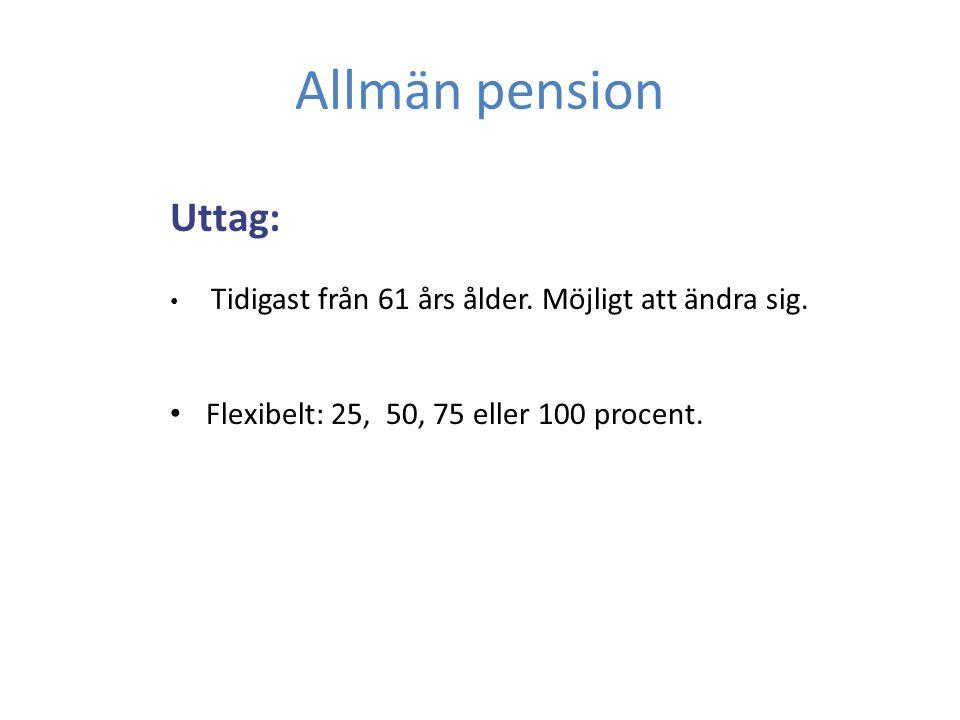Tjänstepension KAP-KL premie- och förmånsbestämt.
