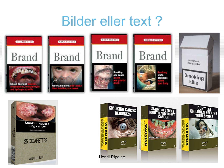 Bilder eller text ? HenrikRipa.se