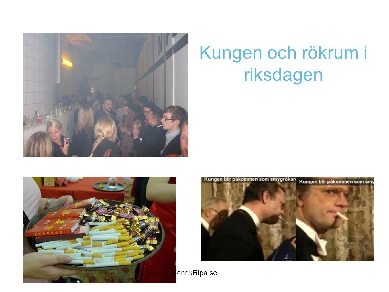 Kungen och rökrum i riksdagen HenrikRipa.se