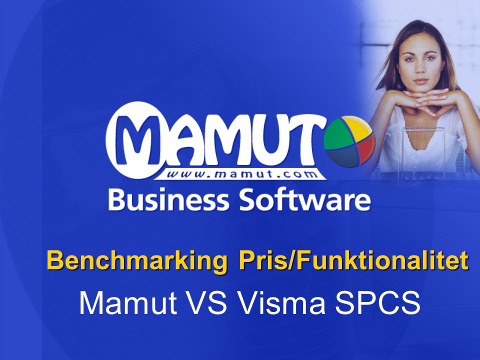 Benchmarking Pris/Funktionalitet Mamut VS Visma SPCS