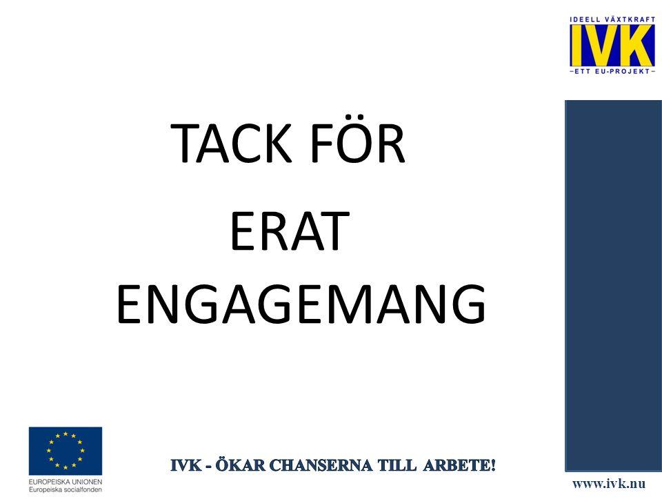 www.ivk.nu TACK FÖR ERAT ENGAGEMANG