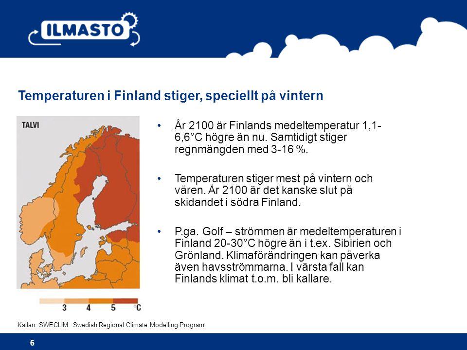 Arter kan försvinna helt och hållet även i Finland 7 Den vanligaste finska trädarten är idag tallen.