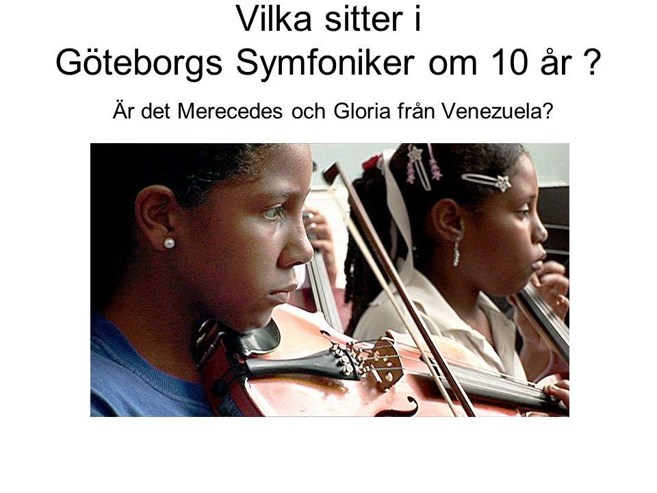 Vilka sitter i Göteborgs Symfoniker om 10 år ? Är det Merecedes och Gloria från Venezuela?