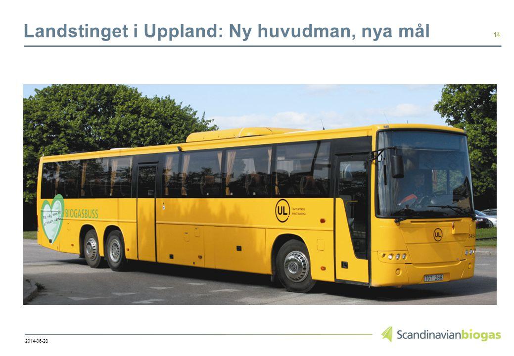 Landstinget i Uppland: Ny huvudman, nya mål 14 2014-06-28