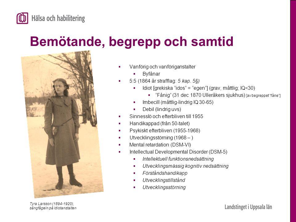 Andel 0-90 åringar med utvecklingsstörning i Sverige (1%)