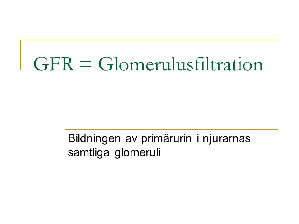 Equations to Estimate GFR Cockcroft & Gault (C&G) estimates creatinine clearance (mL/min) (140-age) x weight (kg) 72 x SCr (mg/dL) x 0.85 (if female) 4-variable, re-expressed MDRD estimates GFR (mL/min/1.73 m 2 ) 175 x SCr -1.154 x age -0.203 x (0.742 if female) x (1.21 if black) MDRD, Modification of Diet in Renal Disease; GFR, glomerular filtration rate; SCr, serum creatinine Coritsidis GN.
