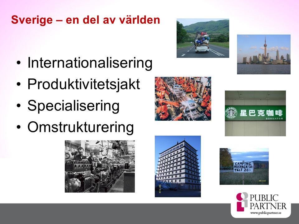  Kraftig omstrukturering senaste 3 decennierna Från storföretagsprägel till högskola, tjänster, handel, turism mm.
