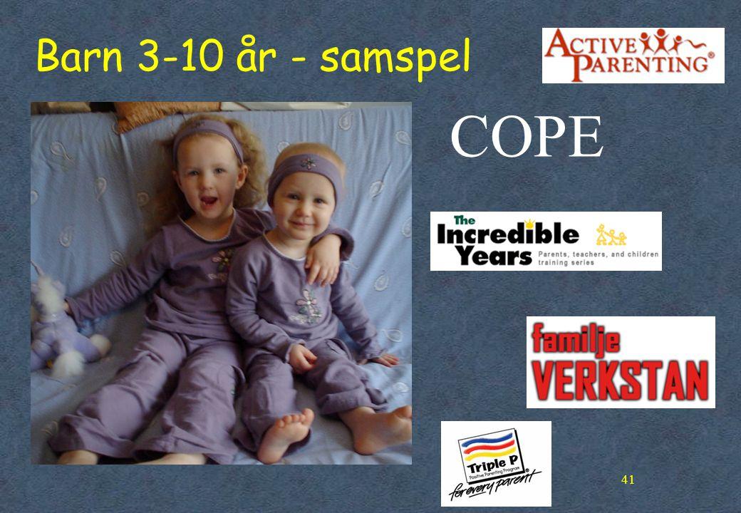 41 Barn 3-10 år - samspel COPE