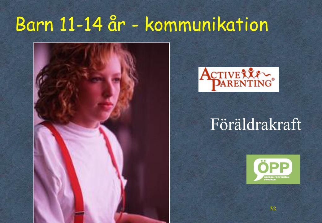 52 Barn 11-14 år - kommunikation Föräldrakraft