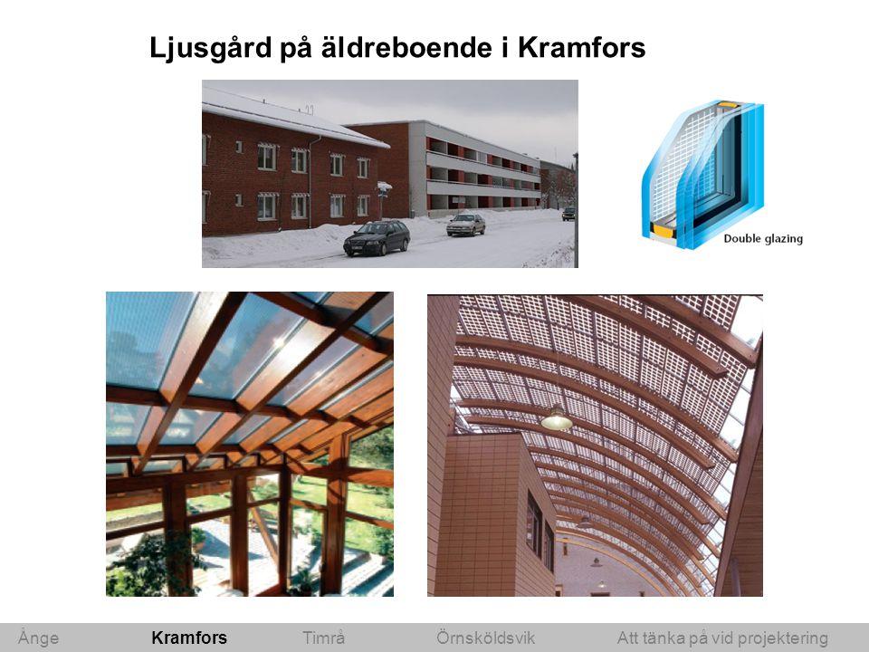 Ånge Kramfors Timrå ÖrnsköldsvikAtt tänka på vid projektering Ljusgård på äldreboende i Kramfors