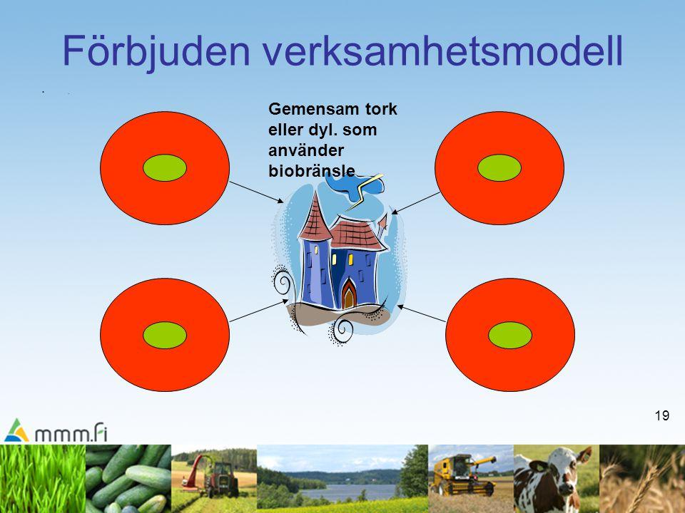19 Förbjuden verksamhetsmodell •.•. Gemensam tork eller dyl. som använder biobränsle