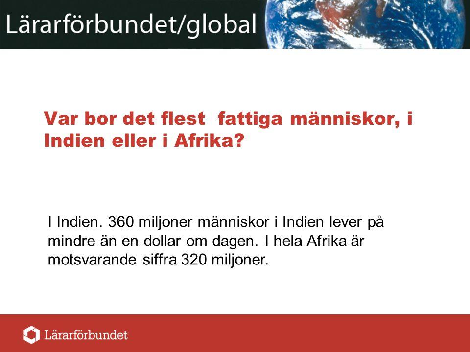 Hur stor andel av världens befolkning lever på mindre än en dollar om dagen.
