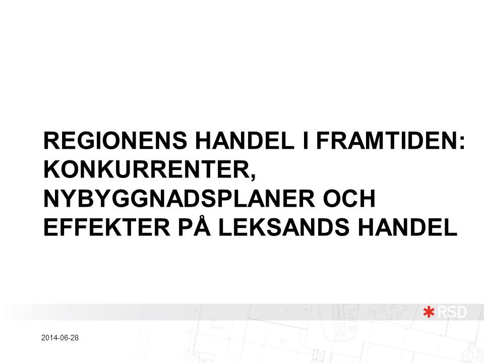 REGIONENS HANDEL I FRAMTIDEN: KONKURRENTER, NYBYGGNADSPLANER OCH EFFEKTER PÅ LEKSANDS HANDEL 2014-06-28