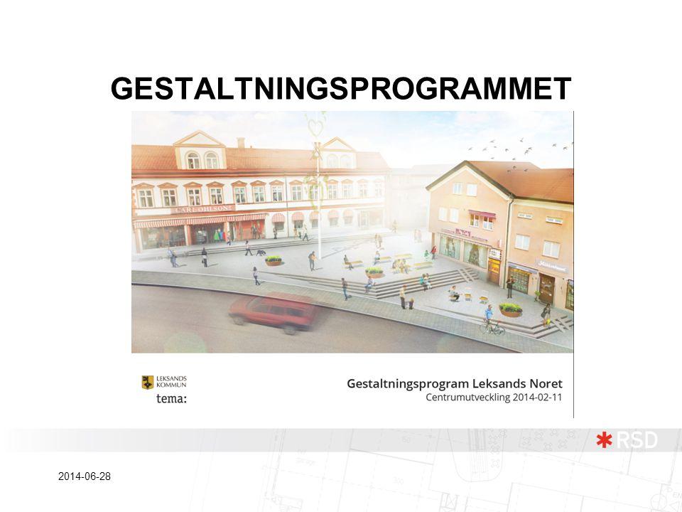 GESTALTNINGSPROGRAMMET 2014-06-28