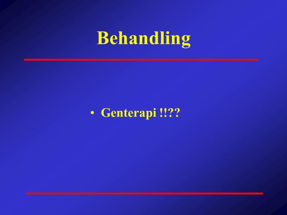 Behandling •Genterapi !!??