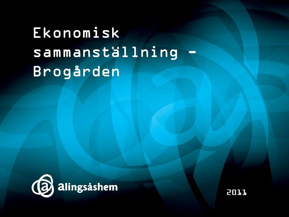 Ekonomisk sammanställning - Brogården 2011