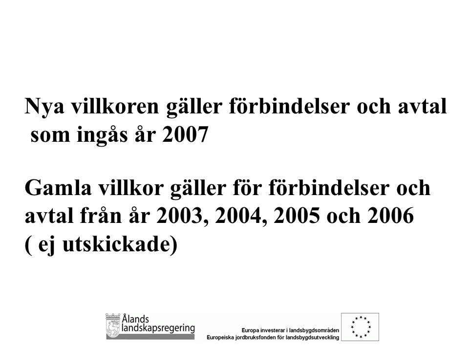  NYA PROGRAMMET ALLMÄNT (gäller både miljöstöd och LFA) 1.