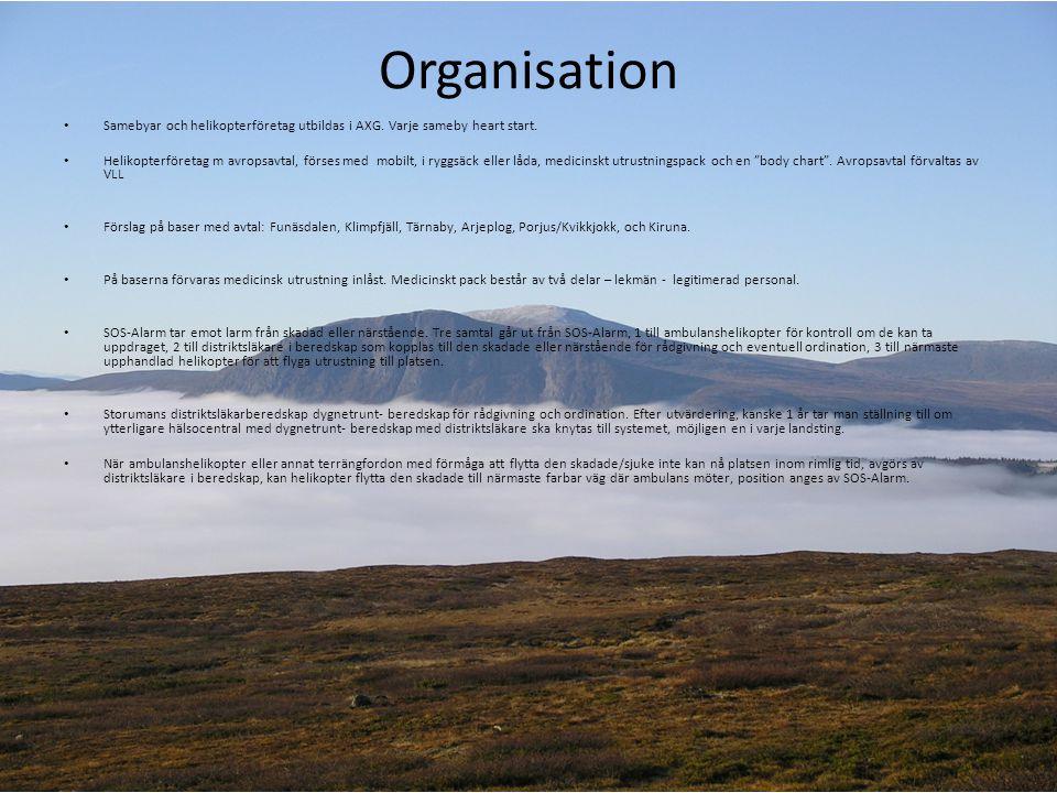 Organisation • Samebyar och helikopterföretag utbildas i AXG.
