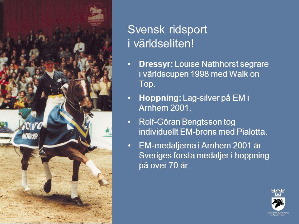 Svensk ridsport i världseliten.