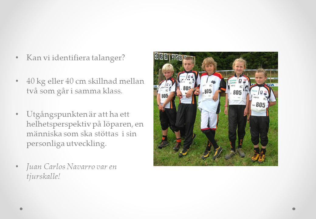Talangidentifikation • Hur kan du se att någon är talang? • Experterna kunde det inte!