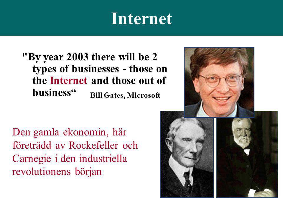 Internet Den gamla ekonomin, här företrädd av Rockefeller och Carnegie i den industriella revolutionens början