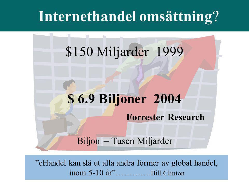 """Forrester Research Biljon = Tusen Miljarder Internethandel omsättning? """"eHandel kan slå ut alla andra former av global handel, inom 5-10 år""""…………. Bill"""