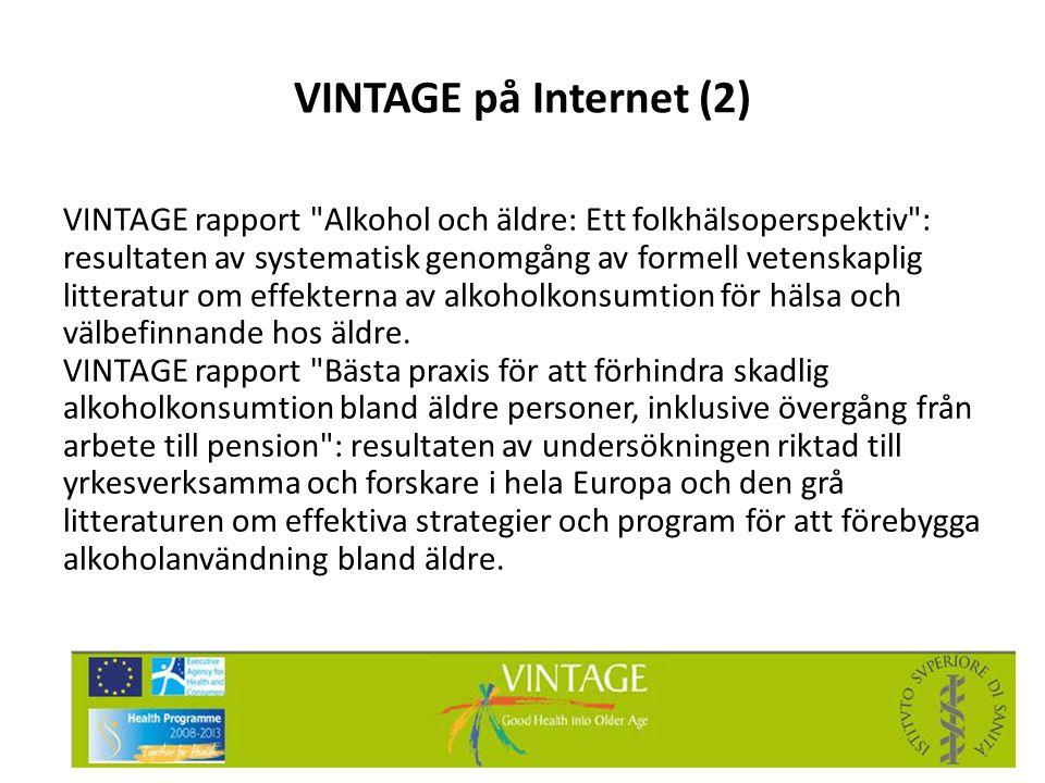 VINTAGE på Internet (2) VINTAGE rapport