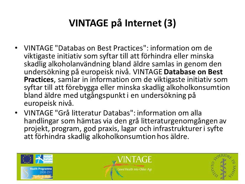 VINTAGE på Internet (3) • VINTAGE
